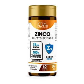 NUTRACEUTICAL SULFATO DE ZINCO - 60 CAPS - 30G